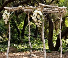 rustic wedding gazebo