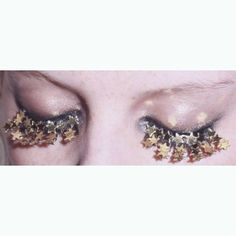 Fake eyelashes can have different designs on them these days, like these. They have little stars all over them which would be good if they were worn in a photo shoot or on a catwalk for a designer