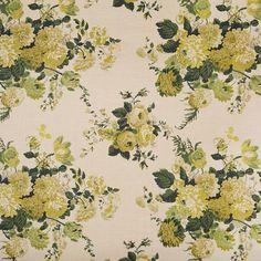 "33341-2 Dahlia Hand Block Green by Clarence House Fabric - 1 Thailand - H: -, V: 29"" 48"" - Fabric Carolina - Clarence House"