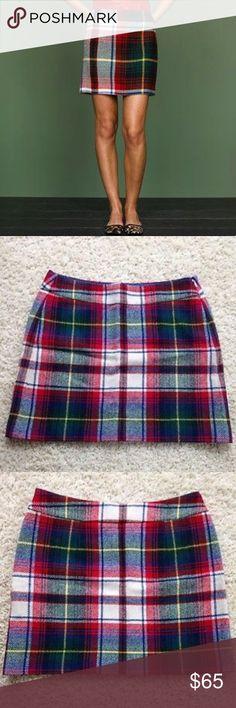 J.Crew Tartan Plaid Wool Mini Skirt J.Crew Tartan Plaid Wool Mini Skirt. Excellent condition. Size 6. J. Crew Skirts