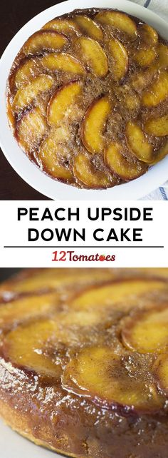 Peach upside down cake! One of our favorite coffee cakes.: