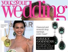 Our Green Goddess earrings featured in You and Your Wedding Nov-Dec Issue. Have a nice Monday!