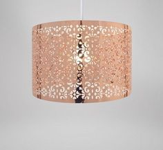 Copper lampshade for the living room - ebay