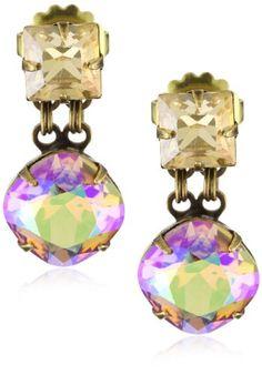 "Sorrelli ""Mirage"" Crystal Two-Stone Bold Gold-Tone Earrings   $55"
