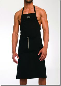 Cookwear, the best apron to surprise the person you cook for! Check out the opening in front.