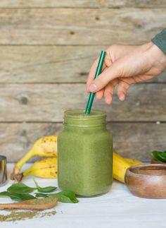 Protein green smoothie | Batido verde proteico #greensmoothie #veganprotein