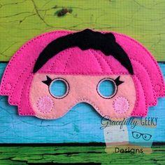 Lala 1 Felt Mask Embroidery Design - 5x7 Hoop or Larger