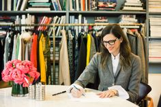 In the office with Jenna Lyons.