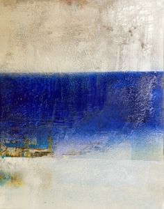 Kevin Brewerton . Ancient River  www.zatista.com  #art #painting #abstract #blue #oil #color_field