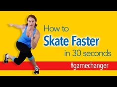 Four exercises to help you Skate Faster! As part of Roller Derby Athletics' sponsorship of the 2014 WFTDA tournaments, we're creating 30 Second . Roller Derby Drills, Roller Derby Skates, Roller Skating, Ice Skating, Figure Skating, Hockey Training, Training Tips, Cardio, Track Roller