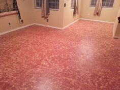 Painted Concrete 2 Step Color Process Used Glidden Acrylic