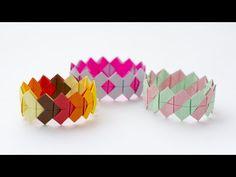 Bracelet tutorial. Origami bracelet easy. Paper bracelet - YouTube