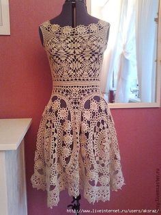 New romance crochet dress Crochet Bolero, Crochet Tunic, Irish Crochet, Crochet Lace, Crochet Skirts, Crochet Clothes, Diy Dress, Dress Skirt, Crochet Wedding Dresses