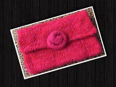 Felted Clutch Handbag Purse by LovesGypsyMarket on Etsy