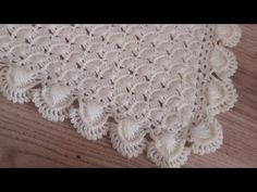 Crochet Shawl, Crochet Stitches, Christening Blanket, Handmade Baby Blankets, Manta Crochet, Crochet Patterns For Beginners, Crochet Videos, Crochet Designs, Knitting Projects