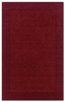 Amazon.com: Rizzy Home PL0866 Platoon 5-Feet by 8-Feet Area Rug, Red $300    Pros: Brings in color of dining room, wool, simple    Cons: small, too much of a contrasting color, possible mismatch of dining room color, slightly expensive