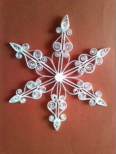 *SNOWFLAKE ~ Quilling Creaties-Baukje: Kerststerren Quilling