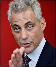 """Rahm Emanuel, a former White House chief of staff, will take the reins Monday, becoming Chicago's first Jewish mayor.""  -New York Times May 14, 2011"