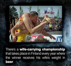 Image result for wife carrying race gif