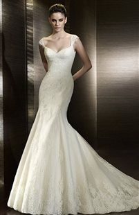 3.outerinner.com Sleeveless Queenanne Mermaid Wedding Gown