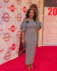 When you  have  too many beautiful pictures and you're stylishly flooding the timeline, you do #wcw #tbt #fbf,  become #kingwoman sef and do #mcm  So, this one is a #throwback to #tlgotslaunch #tlgots  #houndstooth dress  @the_maam