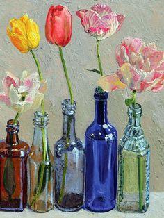 Lucy Culliton Tulips - Pictify - your social art network Bottle Art, Artist Inspiration, Australian Art, Flower Art, Floral Art, Painting, Still Life Flowers, Art, Australian Painters