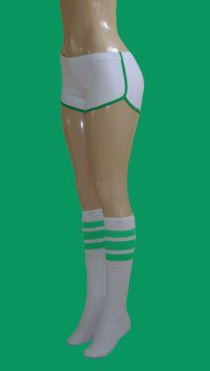 White_short_with_neon_green_trim_and_white_socks_with_neon_green_trim_1000.jpg   http://www.vintageretroshorts.com/retro-shorts-skatersocks.html