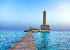 The inner pier view of Sanganeb Lighthouse, Sanganeb National Park, Port Sudan مشهد الرصيف الداخلي لفنار سنقنيب، محمية سنقنيب البحرية، بورتسودان #السودان #sudan #sanganeb #portsudan #redsea #lighthouse #pier