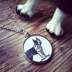Boston Terrier Necklace. $35  Made in South Dakota.