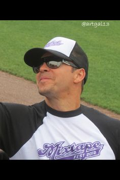 Mixedtape softball game with Donnie Wahlberg