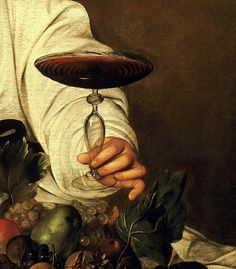 Caravaggio was a lover of light, drama, and wine! His Bacchus embodies the link between art and wine. His attention to detail was impressive. Any guess on what wine Bacchus is holding? I have an intriguing hypothesis… Read the article for more! Caravaggio, Renaissance Paintings, Renaissance Art, Michelangelo, Baroque Painting, Bacchus, Paul Gauguin, Italian Artist, Contemporary Paintings