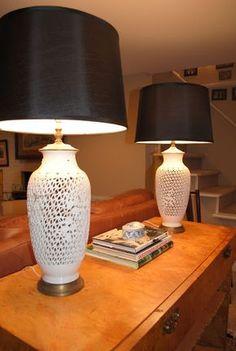 Blanc de chine lamps
