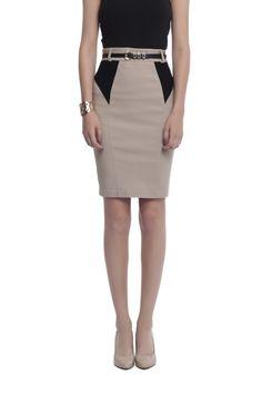 Colorblock Pencil Skirt