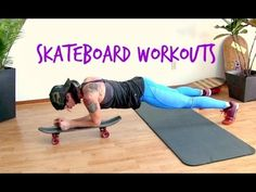 Training with a skateboard is a creative way to workout your core, do exercises you might not be able to do on your own. Fit Board Workouts, Gym Workouts, At Home Workouts, Trx Gym, Best Abdominal Exercises, Aerobic Exercises, Workout Bauch, Fat Burning Workout, I Work Out