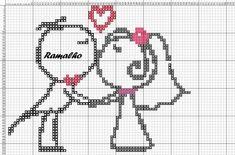 Cross Stitch Family, Cross Stitch For Kids, Cross Stitch Love, Cross Stitch Books, Cross Stitch Needles, Cross Stitch Cards, Cross Stitching, Cross Stitch Embroidery, Wedding Cross Stitch Patterns
