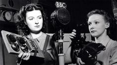 Radio presenters in the 1930s Foley artists