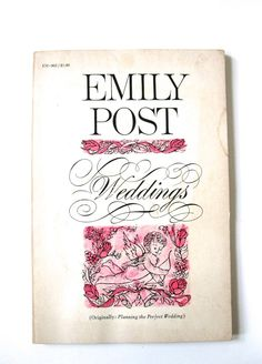 Weddings by Emily Post Vintage paperback Vintage Book 1963 by VintageCommon on Etsy