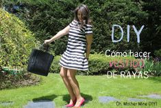 Cómo hacer vestido corto de rayas para el verano :D