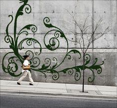Wall art made of moss