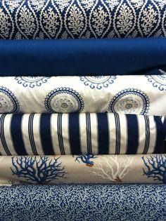 Nautical blue pattern.