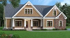 Plan 75400GB: Flexible Plan With Front-to-Back Foyer