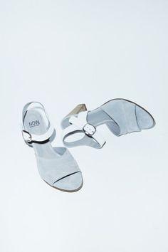 NOW Velour Sandal in Grey