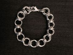 "5/16"" Diameter Thin Bright Aluminum Chainmail Barrel Metal Bracelet - Mens Womens  Nickel Free Steel Silver Medieval Viking LARP Punk by JohnsChainmailShop from John's Chainmail Shop. Find it now at http://ift.tt/2doPOg3!"