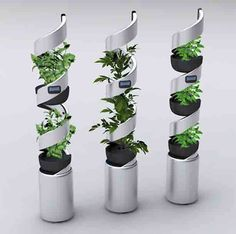 Share Tweet Pin Mail  Honey, I'm home. Is the lettuce ready? This planter is a great conceptfor producing food with minimal effortin tight urban spaces. Milan designer Stefania Minnella's vertical self-sustaining hydroponic system,Elica Idroponica,automates all the … Read More...