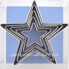 Set of 5 Star Cookie Cutters ideal for Christmas Baking