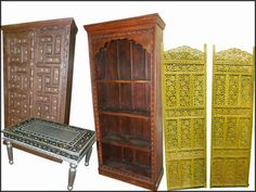 Indian Wooden Furnitures: Indian Rustic Furniture