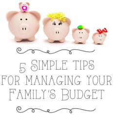 5 Simple Tips For Managing The F – word…..Finances! | One Good Thing By Jillee