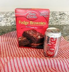 This is what Ive been telling yall about!!!  Brownies made with diet soda, no eggsl, water or oil.  Only 105 calories and 0.5g fat in each serving!....i should pin more stuff like this!!!