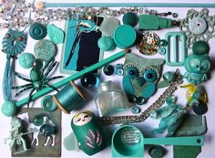 Turquoise stuff by Betty Jo Designs, via Flickr