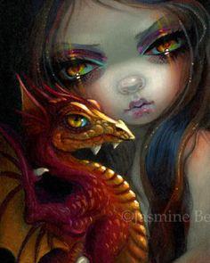 Golden Eyed Dragonling   Art by Jasmine Beckett-Griffith